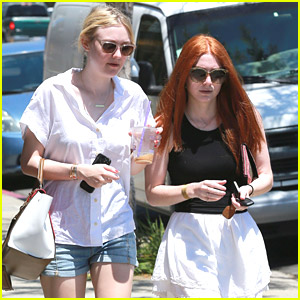 Dakota Fanning Hangs With Friend After 'Last of Robin Hood' Trailer Debuts
