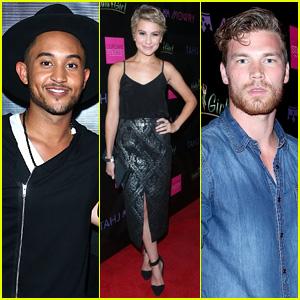 Derek Theler & Chelsea Kane Support Tahj Mowry at Hollywood Performance