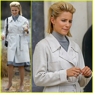 Dianna Agron Sports Pretty Awesome Hair for 'Headlock' Filming