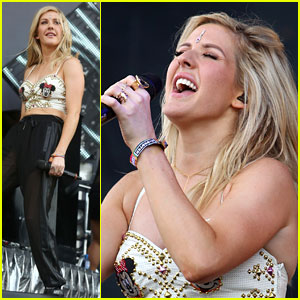 Ellie Goulding Shows Some Love for Minnie Mouse at Wireless Festival 2014!