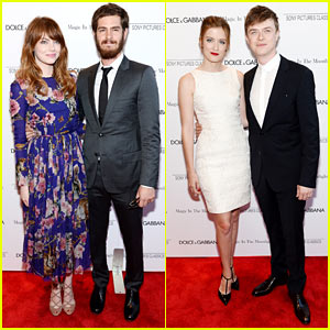 Emma Stone & Andrew Garfield Reunite with Dane DeHaan at 'Magic' Premiere!