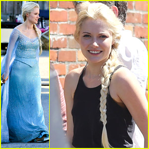 First Look at Georgina Haig as Queen Elsa on 'Once Upon A Time' Set!