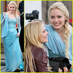Georgina Haig Spotted in Full Elsa Costume Again on 'Once Upon a Time' Set!