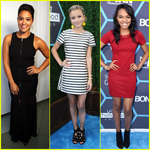 Gina Rodriguez & G Hannelius Hit Up Young Hollywood Awards 2014