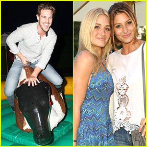 Grey Damon Takes On The Mechanical Bull at JJ's Summer Fiesta!