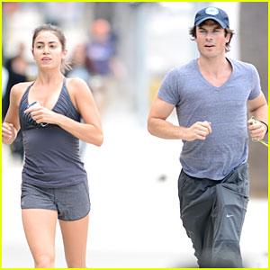 Ian Somerhalder & Nikki Reed Go For a Jog Together!