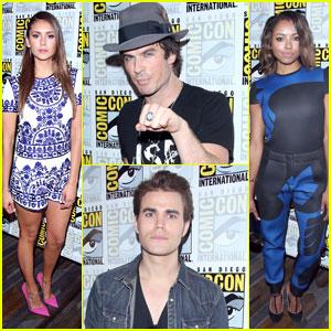 Nina Dobrev & Ian Somerhalder Hit Up 'The Vampire Diaries' Panel at Comic-Con!