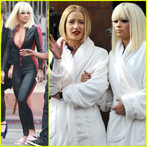 Rita Ora & Iggy Azalea Buddy Up on 'Black Widow' Video Set!