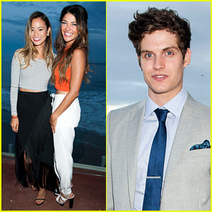 Jamie Chung & Jessica Szohr Buddy Up at Just Jared x REVOLVE Dinner in Malibu!