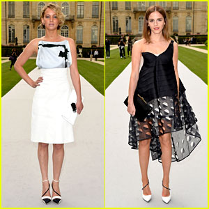 Jennifer Lawrence & Emma Watson Look So Chic for Christian Dior Show in Paris!