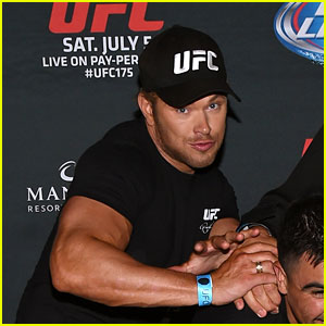 Kellan Lutz Supports His 'The Expendables 3' Co-Star at UFC 175 Event!