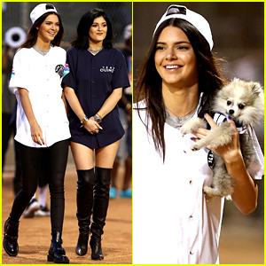 Kendall & Kylie Jenner Compete on Opposing Teams for Charity Kickball Game!