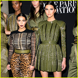 Kendall Jenner Lets Her Sister Kim Kardashian Join the Balmain Army