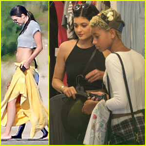 Kendall Jenner Goes Boating with the Family While Kylie Shops with Willow Smith