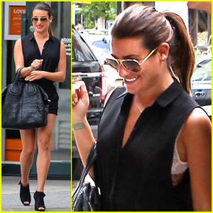 Lea Michele Puts Her Lacy Bra on Display During Shopping Day with Mom!
