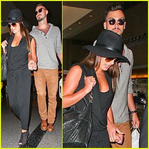 Lea Michele & New Boyfriend Matthew Paetz Hold Hands at LAX
