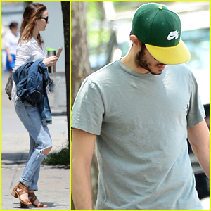 Leighton Meester & Adam Brody Spend Sunday Apart in NYC