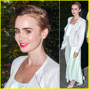 Lily Collins Keeps it Light for a Night Out at the Chiltern Firehouse!