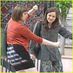 Maude Apatow Dances With Girls' Lena Dunham On Set in NYC
