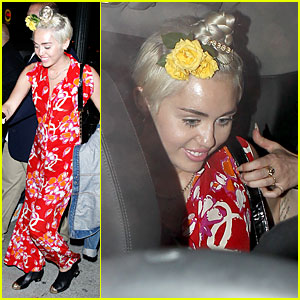 Miley Cyrus Makes Red Hot Exit at Warwick
