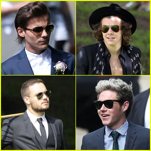 One Direction Suits Up for Louis Tomlinson's Mom's Wedding!