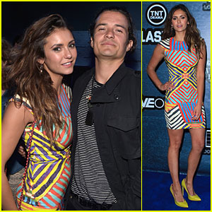 Nina Dobrev & Orlando Bloom Met Up at Playboy Comic-Con Party