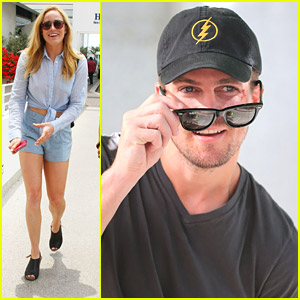 Stephen Amell Wears 'Flash' Hat On 'Arrow' Set & It Makes JJJ Insanely Excited