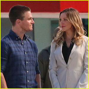 Stephen Amell & Katie Cassidy Film Scenes for Upcoming Season of 'Arrow'!