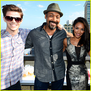 Grant Gustin & Danielle Panabaker Blast into Buzzfeed's Rooftop 'Flash' Bash!