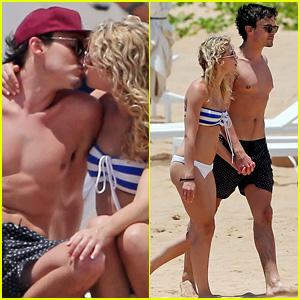 Tyler Blackburn Kisses Girlfriend During Romantic Beach Rendezvous in Maui!