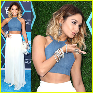 Vanessa Hudgens Blows Kisses on Young Hollywood Awards 2014 Carpet