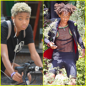Willow Smith Takes a Bike Ride While Jaden Does a Photoshoot!