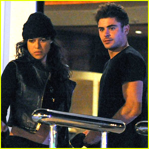Zac Efron Spends Time with Michelle Rodriguez in Spain