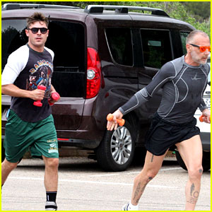 Zac Efron Does a Cardio Workout with New Pal Gianluca Vacchi!