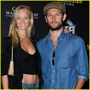 Alex Pettyfer Makes First Official Appearance with Girlfriend Marloes Horst!