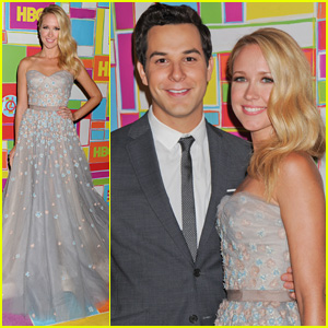 Anna Camp Brings Boyfriend Skylar Astin to HBO's Emmys After-Party 2014