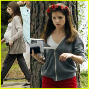 Anna Kendrick Rocks a Fake Baby Bump on Set for 'The Hollars'!