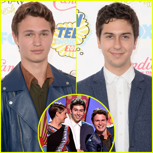 Ansel Elgort & Nat Wolff WIN Choice Movie Chemistry with Shailene Woodley at Teen Choice Awards 2014!