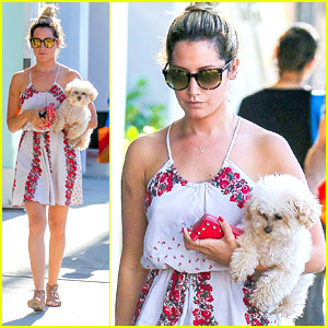 Ashley Tisdale Makes It A Mommy & Me Day With Pup Maui