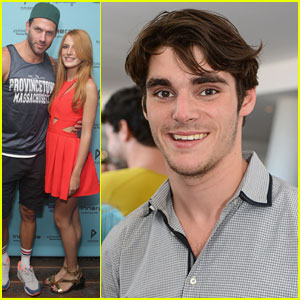 Bella Thorne & RJ Mitte Get Ready to Party at the Kari Feinstein Style Lounge!