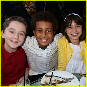 Benjamin Stockham Hangs with Parenthood's Tyree Brown & Savannah Paige Rae at NBC Pre-Emmys Party 2014
