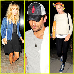 Cara Delevingne & Suki Waterhouse Get Dinner with Bradley Cooper