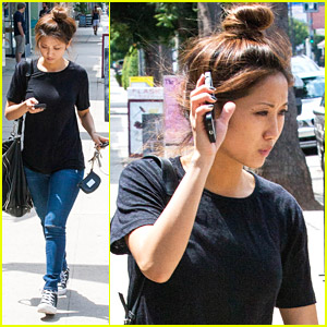 Brenda Song Should've Bought The Big Red Hat From Her Weekend Getaway - It's Cute!