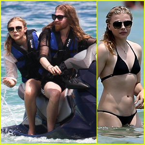 Chloe Moretz Cools Off at the Beach in Miami!