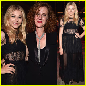 Chloe Moretz Hangs with 'If I Stay' Author Gayle Forman at Premiere After-Party