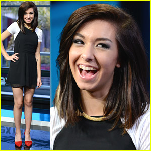 Christina Grimmie Performs 'Must Be Love' on Extra Ahead of JJJ Takeover