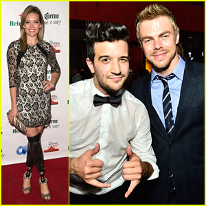 Derek Hough Takes On Two Emmys 2014 Parties With Amy Purdy