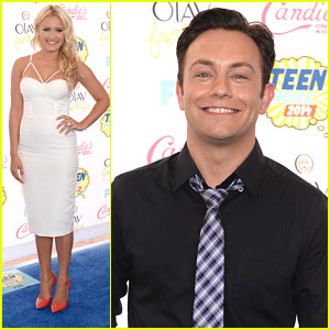 Emily Osment & Jonathan Sadowski Are 'Young & Hungry' At Teen Choice Awards 2014