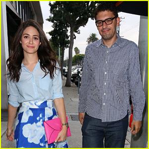 Emmy Rossum & Boyfriend Sam Esmail Make a Cute Dinner Duo!