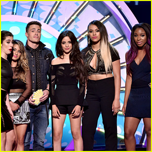 Fifth Harmony Presents with Colton Haynes at Teen Choice Awards 2014
